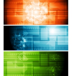 Abstract hi-tech banners vector image vector image