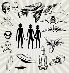 Aliens vector