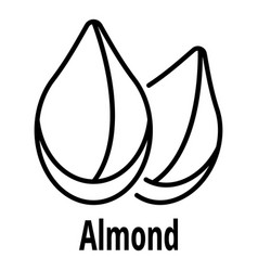 almond icon outline style vector image