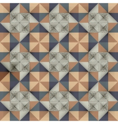 Antique marbled floor tiles abstract pattern vector