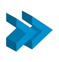 Arrows signal index icon vector