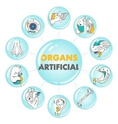 Artificial organs poster vector image