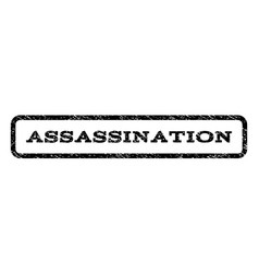 assassination watermark stamp vector image