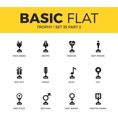 Basic set of Trophy icons vector image