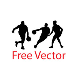 Basketball silhouettes vector