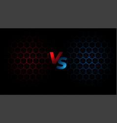 Battle screen versus vs background template design vector