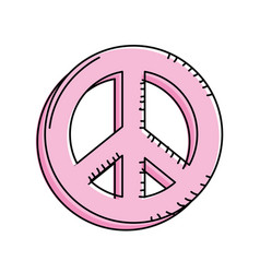 Beauty hippie emblem symbol design vector