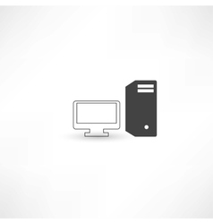 Black and white computer vector image