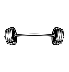 Black and white of a barbell vector