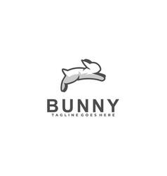 bunny jump design template vector image