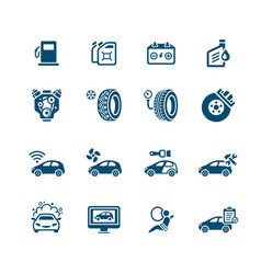 Car service icons - micro series vector