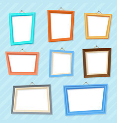 Cartoon photo picture creative wall frames vector