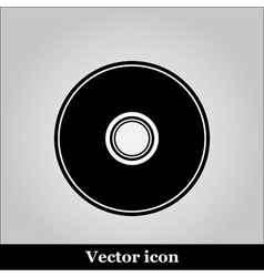 CD or DVD icon on grey background vector image