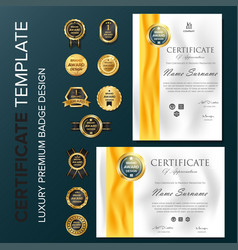 Certificate template with luxury and modern vector