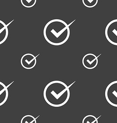 Check mark sign icon Checkbox button Seamless vector image