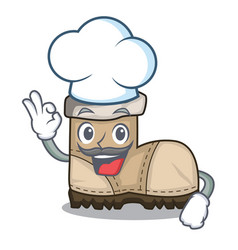 Chef working boot in shape cartoon beautiful vector