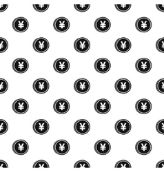 Coin with yen sign pattern simple style vector