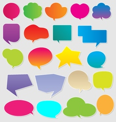 Colorful communication bubbles vector image