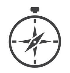 compass solid icon navigation and travel vector image