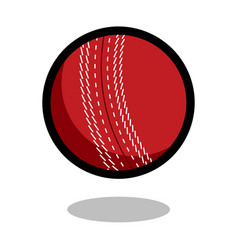 Cricket sport ball logo line 3d icon vector