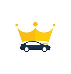 Crown automotive logo icon design vector