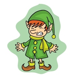 Cute elf Christmas character stock vector