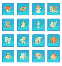 different architecture icon blue app vector image