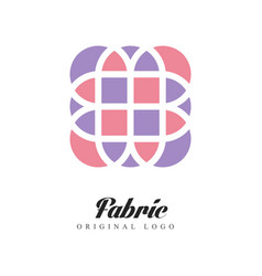 Fabric original logo design element for company vector