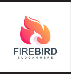 fire bird logo design vector image