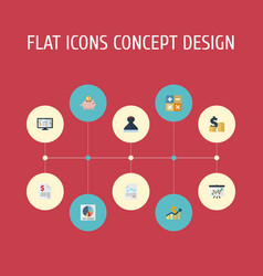 flat icons duty coins pile paper and other vector image