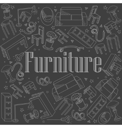 Furniture chalk vector image