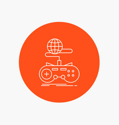 game gaming internet multiplayer online white vector image