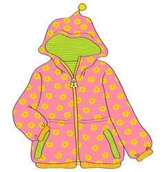 Girls jacket vector