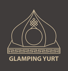 Glamping yurt accomodation vector