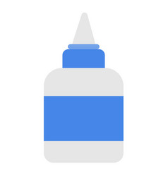 glue icon flat style vector image