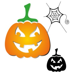 Haloween pumpkin vector image