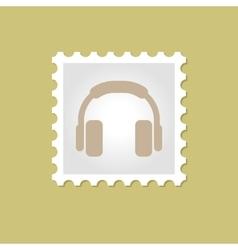 Headphone stamp vector