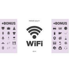 Internet connection symbol icon vector