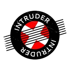 Intruder rubber stamp vector