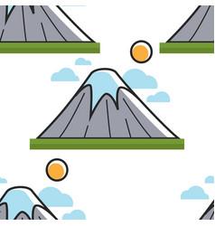 japanese nature fuji mount seamless pattern vector image