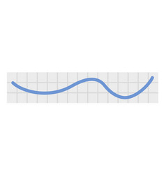 line chart icon flat style vector image