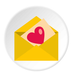 love letter icon circle vector image