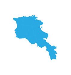 map of armenia high detailed map - armenia vector image