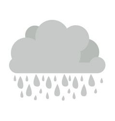 Monochrome cumulus cloud with raindrops vector