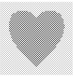 monochrome heart shaped love concept background vector image