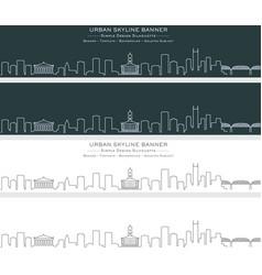 Nashville single line skyline banner vector