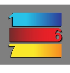 one six seven progress icons in t vector image