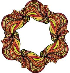 Orange hexagonal frame vector image
