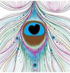 peacock feather design vector image