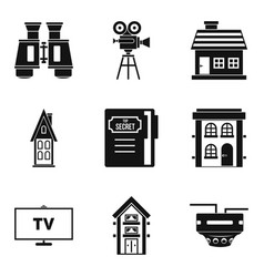 persecution icons set simple style vector image